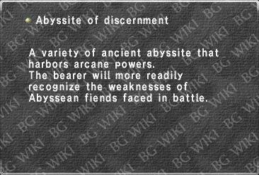 Abyssite of discernment