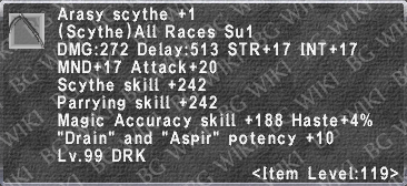 Arasy Scythe +1 description.png