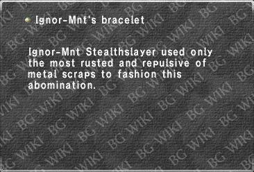 Ignor-Mnt's bracelet
