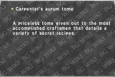 Carpenter's aurum tome
