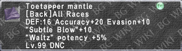 Toetapper Mantle description.png
