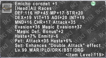 Emicho Coronet +1 description.png