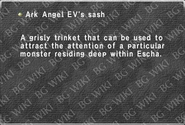 Ark Angel EV's sash