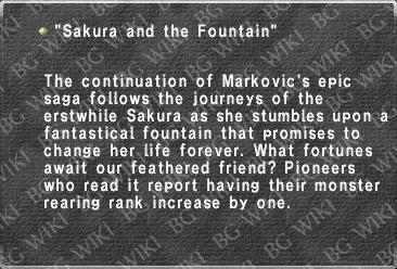 """Sakura and the Fountain"""