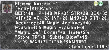 Flamma Korazin +1 description.png