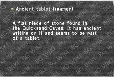 Ancient tablet fragment