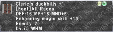 Clr. Duckbills +1 description.png