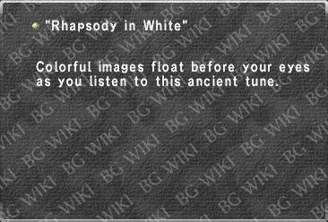 """Rhapsody in White"""