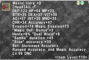 Maxixi Tiara +3 description.png