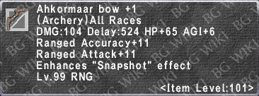 Ahkormaar Bow +1 description.png