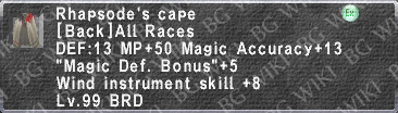 Rhapsode's Cape description.png