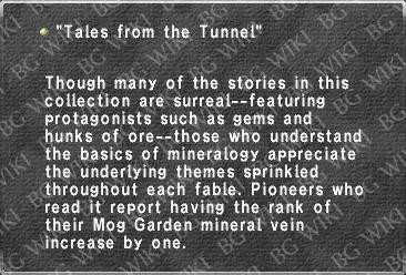 """Tales from the Tunnel"""