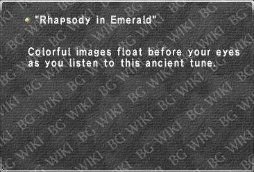 """Rhapsody in Emerald"""