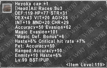 Heyoka Cap +1 description.png