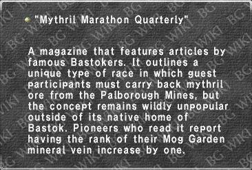 """Mythril Marathon Quarterly"""