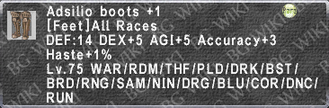 Adsilio Boots +1 description.png