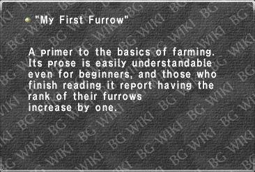 """My First Furrow"""