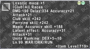 Loxotic Mace +1 description.png